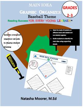 Main Idea Graphic Organizer Baseball Theme