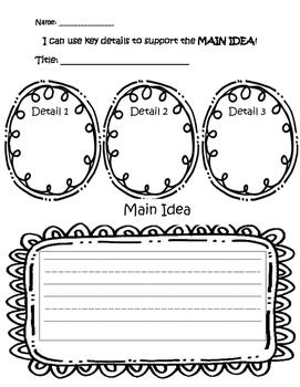 Main Idea - Key details - Comprehension - Reading - Retell