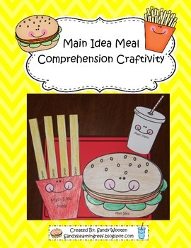 Main Idea Meal Reading Comprehension Craftivity