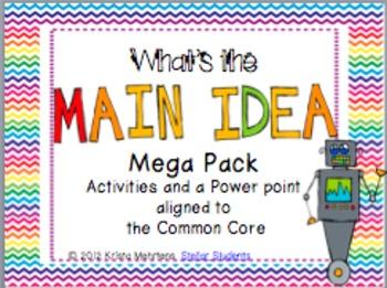 Main Idea Mega Pack- Aligned to the Common Core