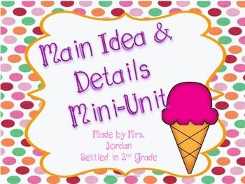 Main Idea Mini Unit
