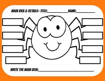 Main Idea- Spider Craft