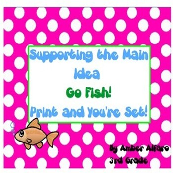 Main Idea & Supporting Detail Go Fish Game ~ ELA CCSS Cent