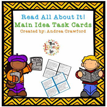 Main Idea Task Cards are perfect for helping students with main idea and details!