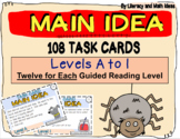 Main Idea Task Cards For Each Guided Reading Level (Levels A-I)
