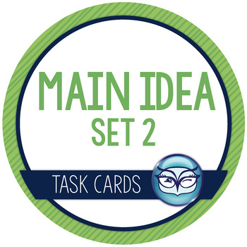 Main Idea Task Cards - Set 2   Nonfiction Texts