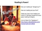 Main Idea Tutorial:  Reading is Power!  The Slave Codes, a
