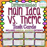 Main Idea Vs. Theme Task Cards