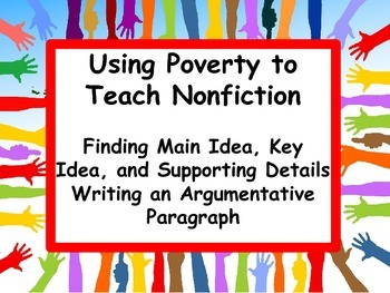 Main Idea and Argumentative Writing: Poverty and Community