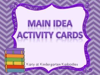 Main Idea and Detail Activity Cards