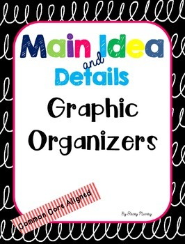 Main Idea and Detail Graphic Organizers