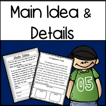 Reading: Find The Main Idea and Details Bundle