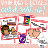 Main Idea and Details Card Sort Game