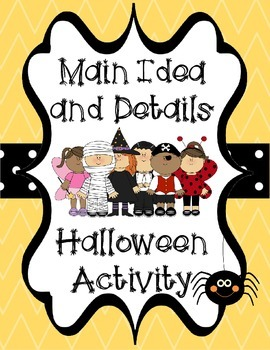 Main Idea and Details Halloween Craft Activity