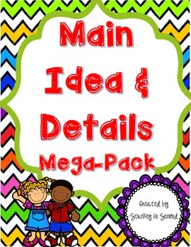 Main Idea and Details Mega-Pack (Includes 10 Centers!)