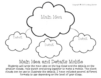 Main Idea and Details Mobile