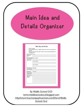 Main Idea and Details Organizer