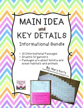 Main Idea and Key Details Informational Bundle- Common Cor