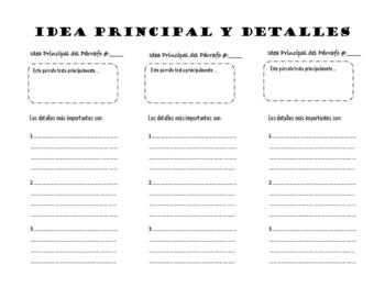 Main Idea and Summarize (Spanish)