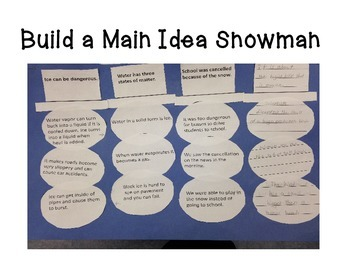 Main Idea and Supporting Detail Snowman