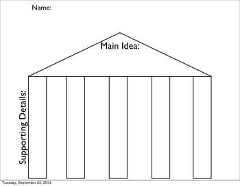 Main Idea and Supporting Details Graphic Organizer