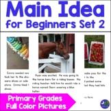 Main Idea Activity Primary Grades with Real Photos