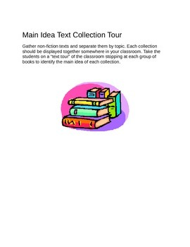 Main Ideas Lessons - Kindergarten