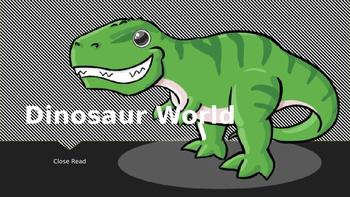 Main Purpose of an Informational Text (Dinosaur World)