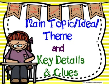 Main Topic/Idea & Key Details Graphic Organizers, Anchor C