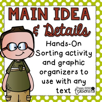 Main idea and Supporting Details hands on explore activity