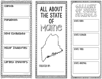 Maine - State Research Project - Interactive Notebook - Mini Book