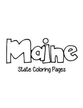 Maine State Coloring Pages