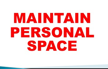 Behavior Expectation Classroom Management Maintain Personal Space