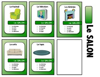 """Maison/Meubles French card game - """"7 familles style"""""""