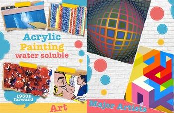 Major Artists & Acrylic Painting ~ Art History ~ FREE POSTER