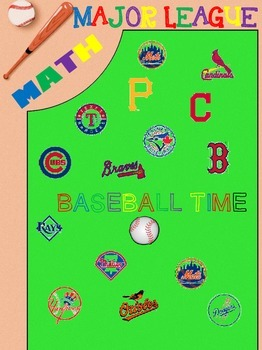 Math Bundle-Fractions, Decimals, and Percents with Baseball Theme