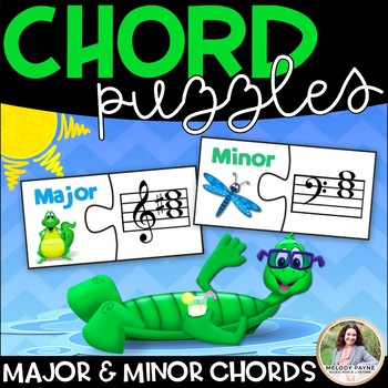 Major & Minor Chord Puzzle Cards {Treble and Bass Clef Cho