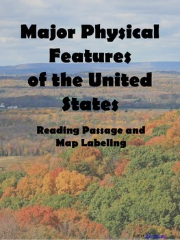 Major Physical Features of the United States Reading Passa