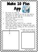Make 10 Plus App Accountability Activity Sheets