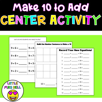 Make 10 to Add Center Activity