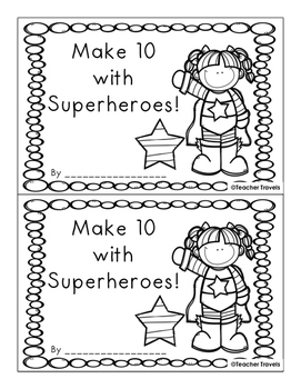 Make 10 with Superheroes Addition Booklet