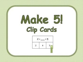 Make 5! Clip Cards