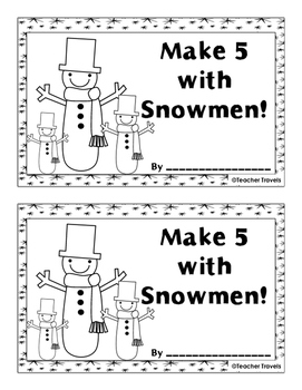 Make 5 with Snowmen Addition Booklet