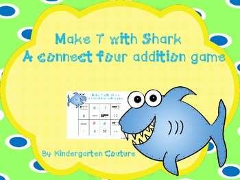 Make 7 With Shark - Addition Game- Connect four