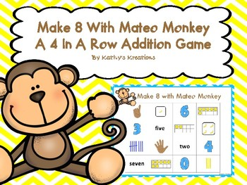 Make 8 with Mateo Monkey (A Four In A Row Addition Game)