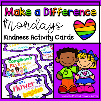 Make-A-Difference Monday - Kindness Activity Cards {FREEBIE}