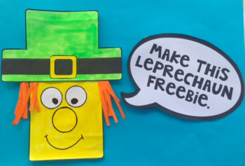 Make A Leprechaun - St patrick's Day Freebie.