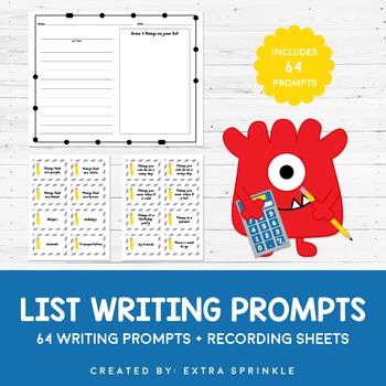 Make A List Writing Prompts