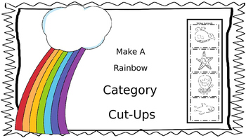 Make A Rainbow Category Cut Ups; Category Separation; Lang
