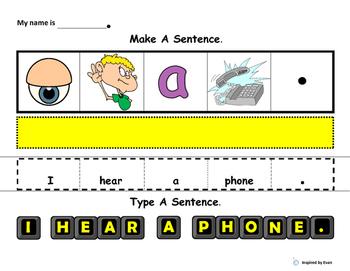 Make A Sentence, Type A Sentence, Answer A Question about